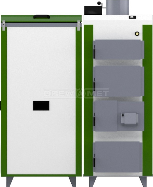 Твердотопливный котел Drewmet Biotec 35 кВт. Фото 4