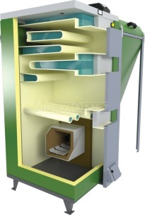 Твердотопливный котел Drewmet Biotec Kompakt 32 кВт. Фото 2